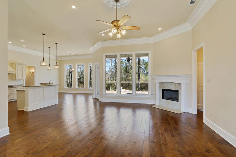 single family home open concept living room