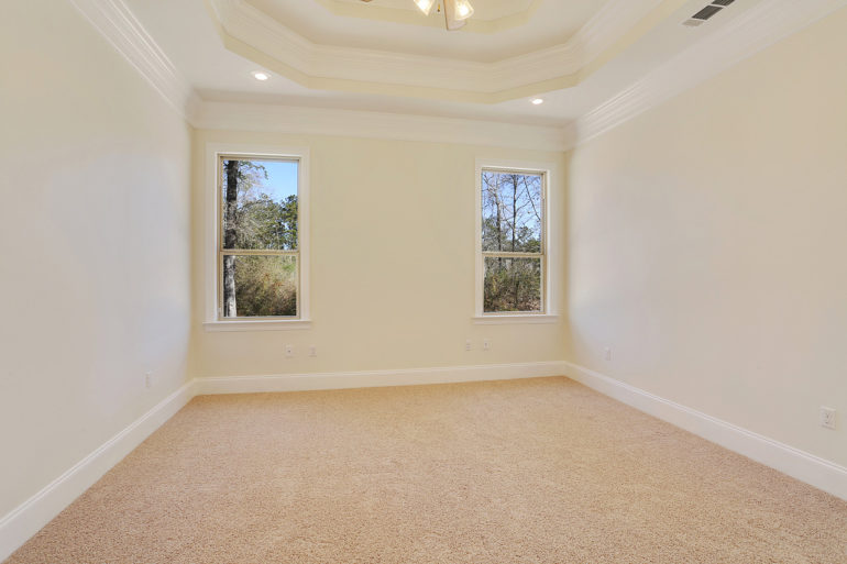 single family home coffered ceiling master bedroom