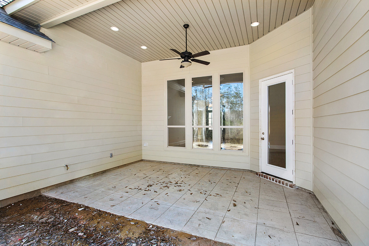 single family home rear paved porch