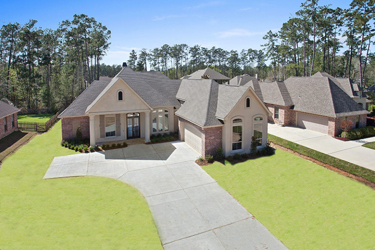 madisonville la home aerial view