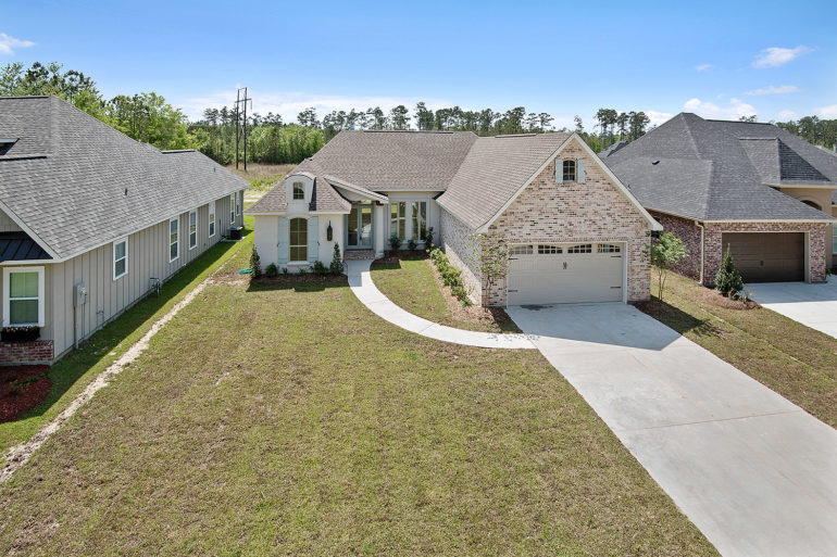 single family home aerial view