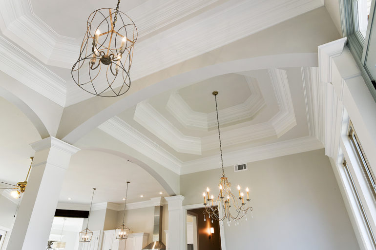 single family home coffered ceiling detail