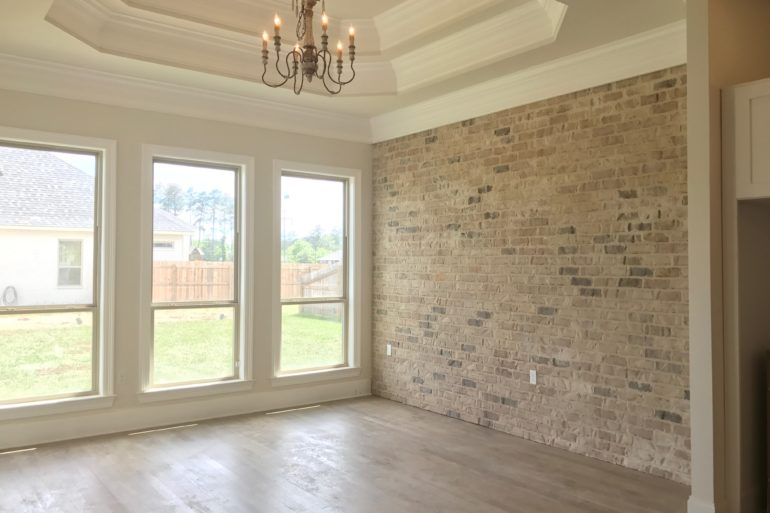 madisonville home brick accent wall